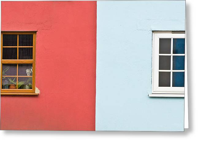 Old Neighbourhood Greeting Cards - Cottages Greeting Card by Tom Gowanlock