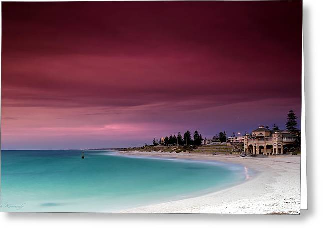 Magical Greeting Cards - Cottesloe Beach Greeting Card by Leah Kennedy