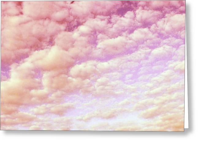 Cotton Candy Sky Greeting Card by Marianna Mills