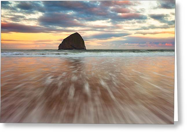 Cotton Candy Sunrise Greeting Card by Darren  White