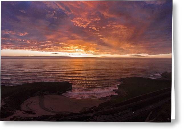 Cotton Candy Sunset Greeting Card by David Levy
