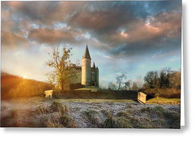 Frost Tower Greeting Cards - Cotton Castle Greeting Card by Jason Green