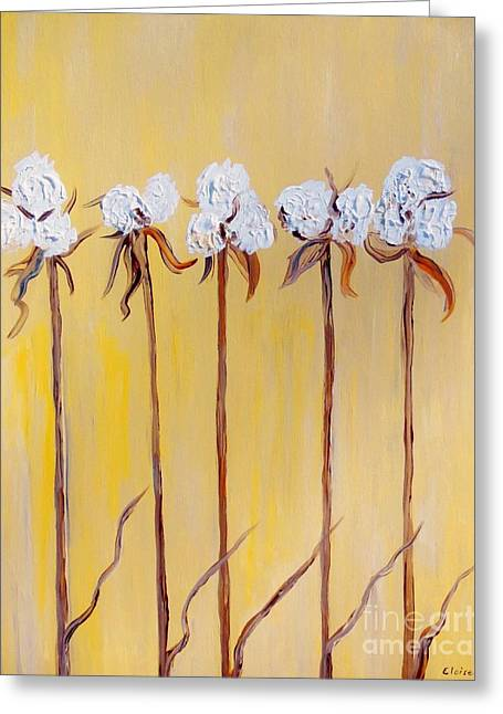 Fields Greeting Cards - Cotton Chorus Line Greeting Card by Eloise Schneider