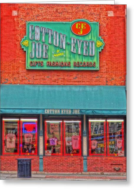 Nashville Downtown Greeting Cards - Cotton Eyed Joe Greeting Card by Dan Sproul