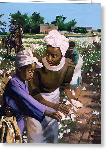 Oppression Greeting Cards - Cotton Pickers Greeting Card by Colin Bootman