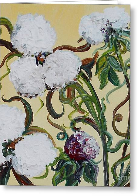 """""""cotton Pickers"""" Greeting Cards - Cotton Squared Greeting Card by Eloise Schneider"""