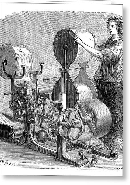 Cotton Textile Industry Greeting Card by Science Photo Library