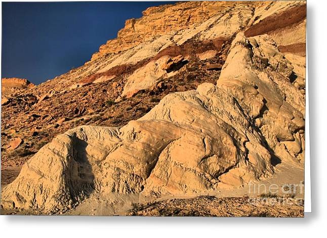 Escalante Greeting Cards - Cottonwood Badlands Greeting Card by Adam Jewell