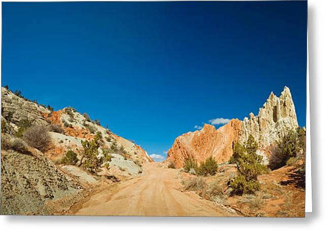 Escalante National Monument Greeting Cards - Cottonwood Canyon Road Passing Greeting Card by Panoramic Images