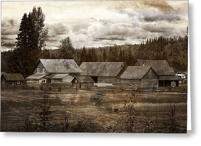 Barkerville Greeting Cards - Cottonwood House Greeting Card by Inge Riis McDonald