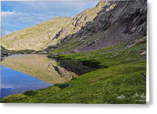Grassy Field Greeting Cards - Cottonwood Lake Greeting Card by Aaron Spong
