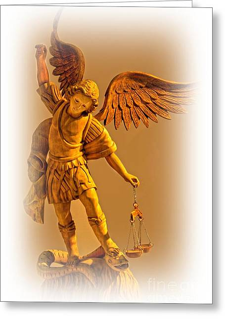 Archangel Greeting Cards - Could This Be Michael The Archangel Greeting Card by Al Bourassa