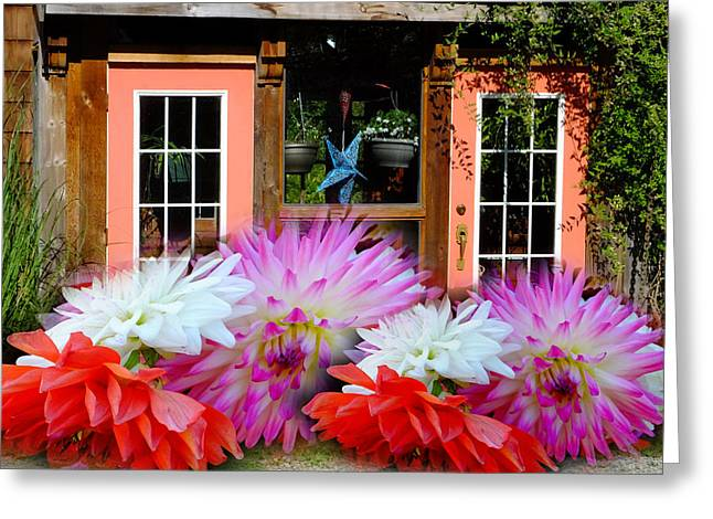 Charming Cottage Digital Art Greeting Cards - Couldnt Get In The Door. Greeting Card by Lyn  Perry