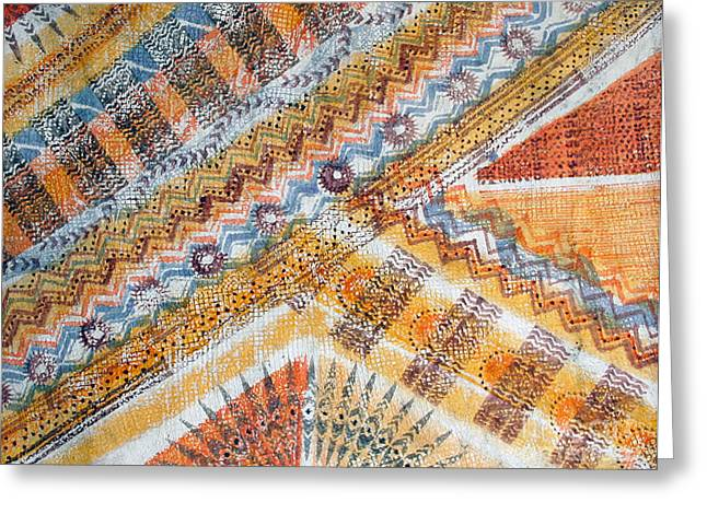Natural Tapestries - Textiles Greeting Cards - Couldnt Stop Greeting Card by Dalani Tanahy
