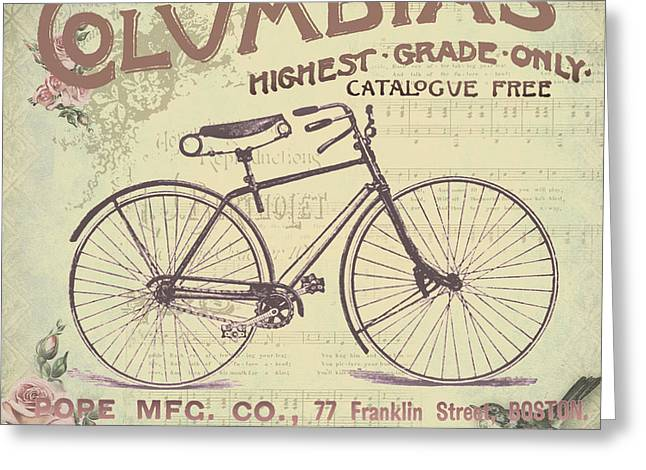 Reflection Harvest Mixed Media Greeting Cards - Coulmbias Bicycle Company Vintage artwork Greeting Card by Art World