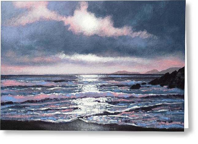 Acrylic Greeting Cards - Coumeenole Beach  Dingle Peninsula  Greeting Card by John  Nolan
