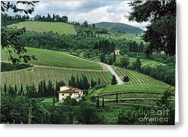 Tuscan Traditions Greeting Cards - Counrtyside of Tuscany Greeting Card by Jennie Breeze