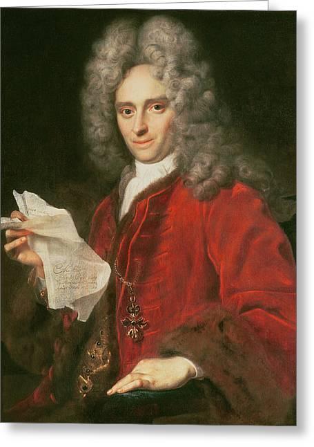 Graf Greeting Cards - Count Alois Thomas Raimund Von Harrach 1669-1742 Greeting Card by Johann Kupezky or Kupetzky