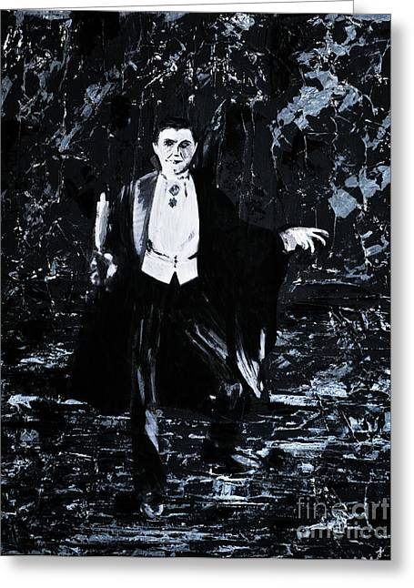 Count Dracula Greeting Cards - Count Dracula Greeting Card by Alys Caviness-Gober