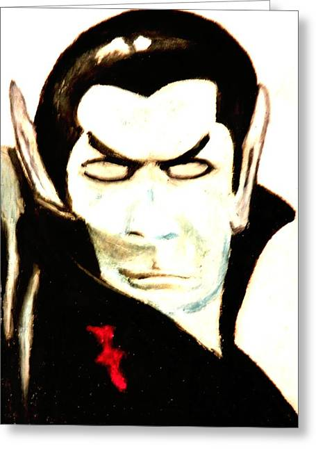 Monster Pastels Greeting Cards - Count Dracula Greeting Card by Jo-Ann Hayden