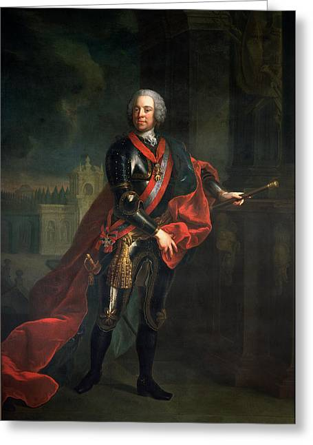 Frederick Greeting Cards - Count Leopold Joseph Von Daun 1705-66, Fieldmarshall And Austrian Commander-in-chief Greeting Card by Austrian School
