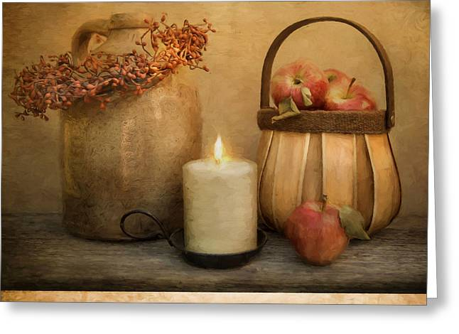 Candle Lit Greeting Cards - Count Your Blessings Greeting Card by Robin-lee Vieira