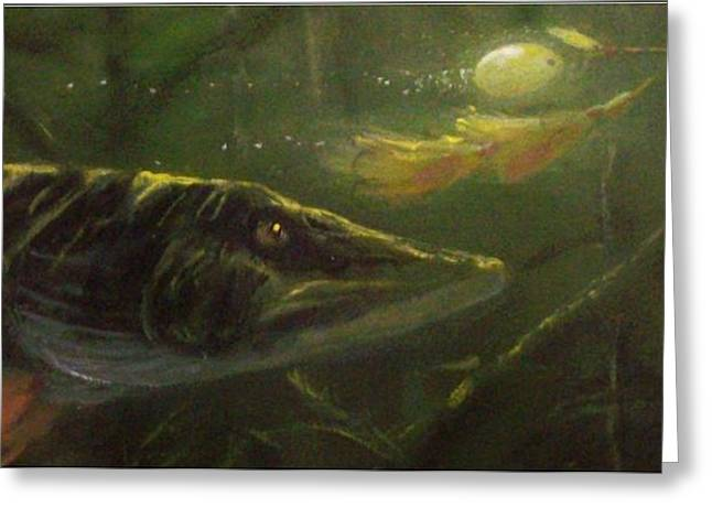 COUNTDOWN - Musky Greeting Card by Peter McCoy
