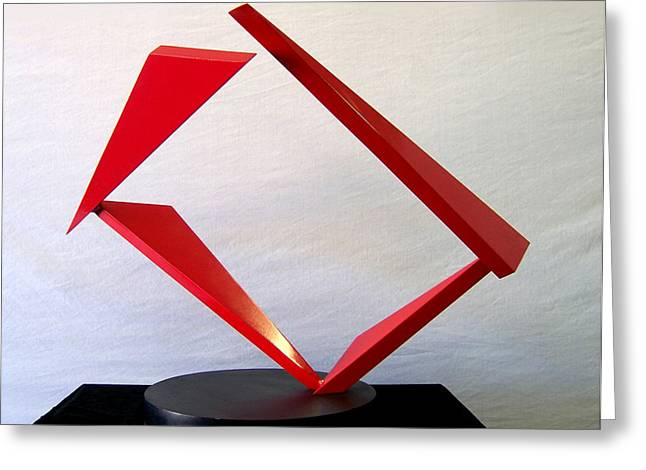 Abstract Movement Sculptures Greeting Cards - Counterpoint Greeting Card by John Neumann