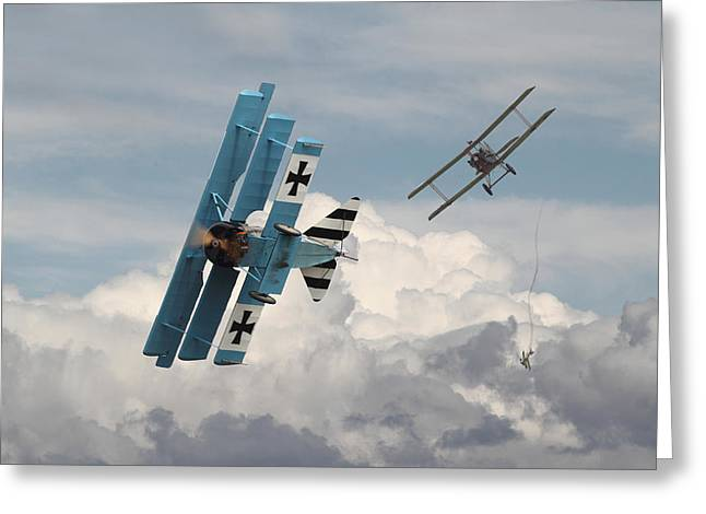 Triplane Greeting Cards - Counterstrike Greeting Card by Pat Speirs