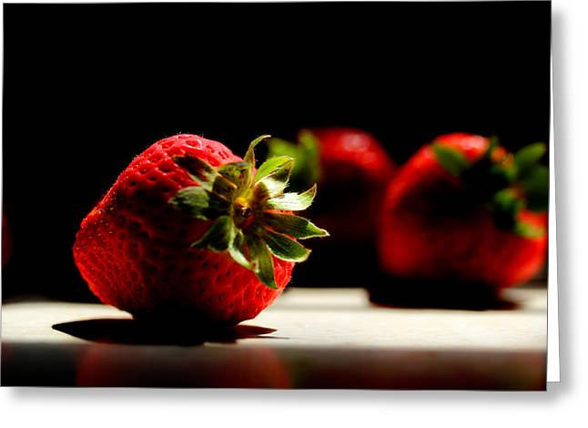 Strawberries Greeting Cards - Countertop Strawberries Greeting Card by Michael Eingle