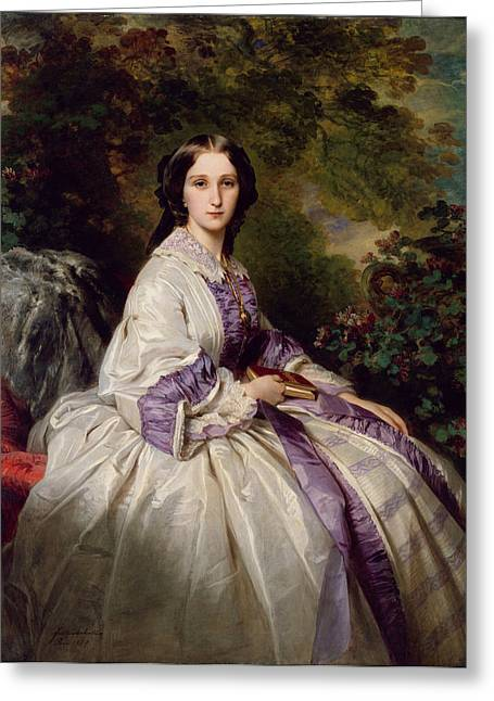 Franz Xaver Winterhalter Greeting Cards - Countess Alexander Nikolaevitch Lamsdorff. Maria Ivanovna Beck Greeting Card by Franz Xaver Winterhalter