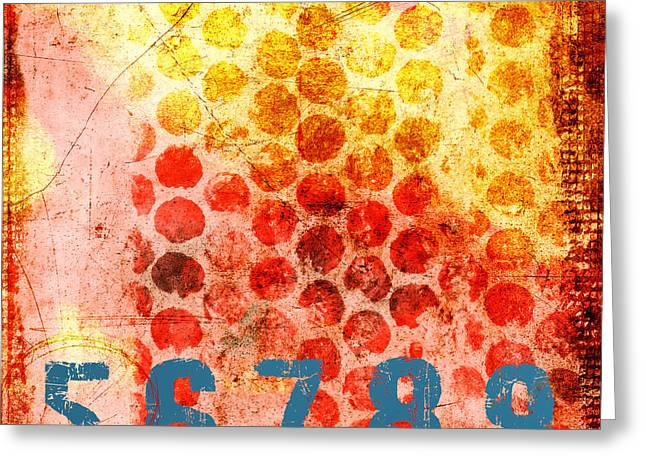 Number Circle Greeting Cards - Counting Circles Greeting Card by Carol Leigh