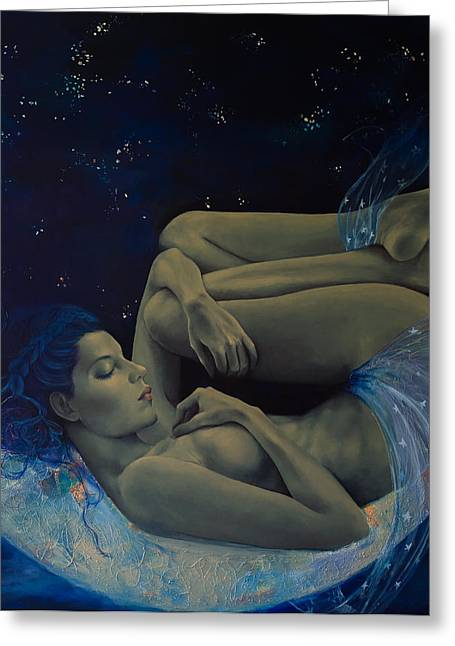 Nude Greeting Cards - Counting Stars Greeting Card by Dorina  Costras