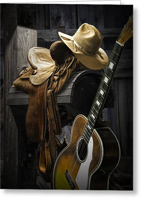 Equestrian Prints Photographs Greeting Cards - Country and Western Music Greeting Card by Randall Nyhof