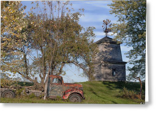 Rural Maine Roads Greeting Cards - Country Autumn Greeting Card by Richard Bean