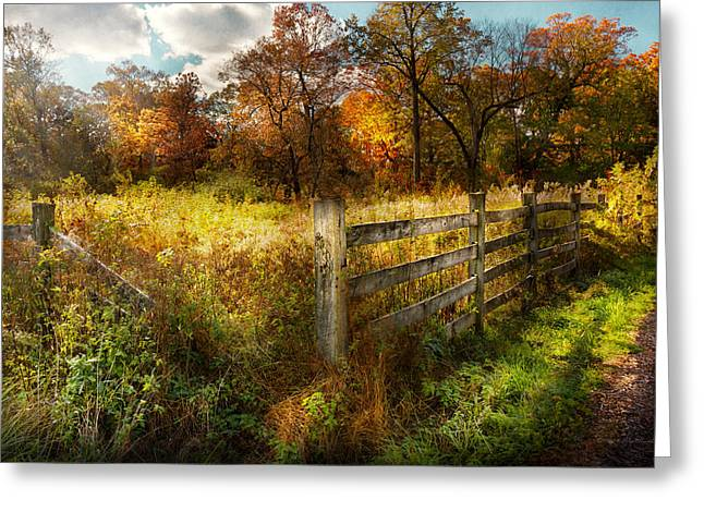 Name Gifts Greeting Cards - Country - Autumn years  Greeting Card by Mike Savad