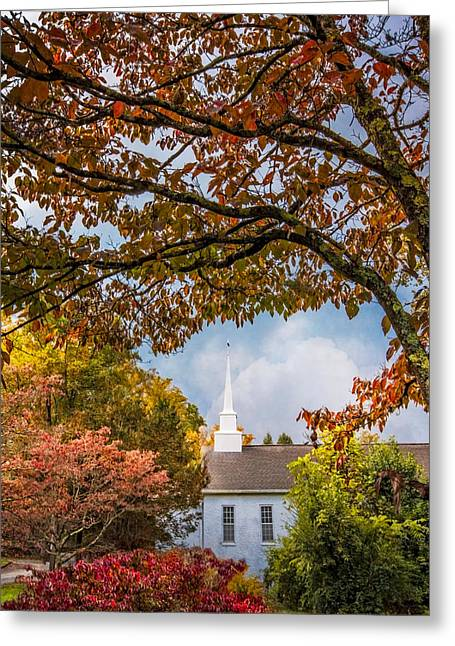 Tn Greeting Cards - Country Baptist Church Greeting Card by Debra and Dave Vanderlaan