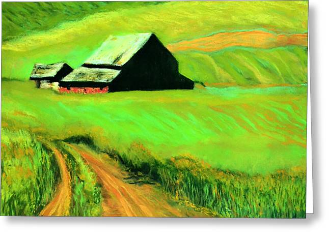 Row Pastels Greeting Cards - Country Barn Greeting Card by Charles Krause