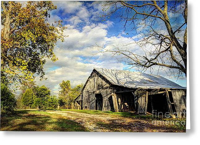 Road Trip Greeting Cards - Country Barn Greeting Card by Joan McCool