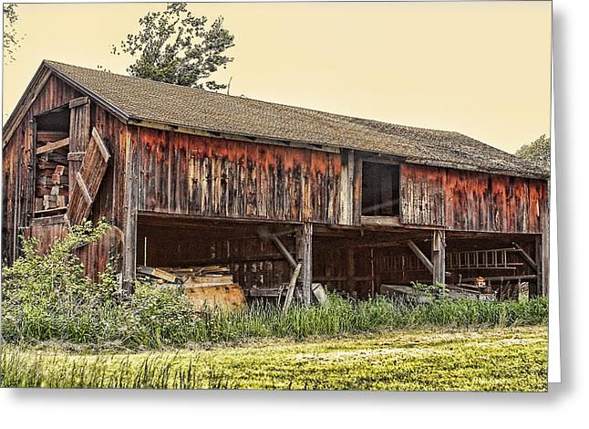 Warm Tones Greeting Cards - Country Barn  Greeting Card by Linda Phelps