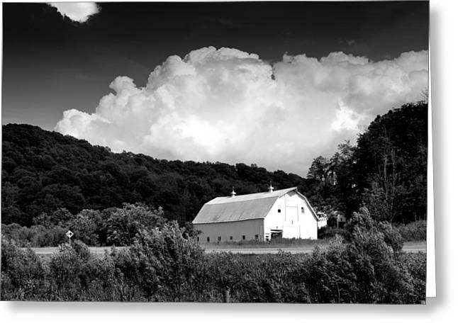 White Barns Greeting Cards - Country Barn Greeting Card by Shane Holsclaw
