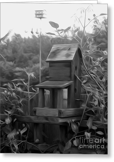 Shelter Animals Greeting Cards - Country Bird House Greeting Card by Kelvin Booker