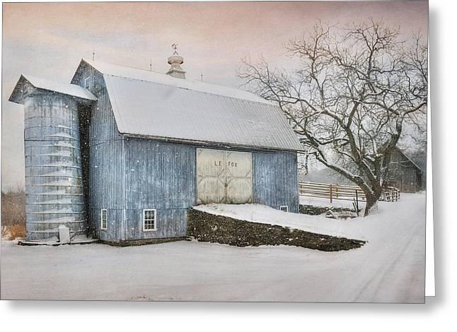 Barn Digital Art Greeting Cards - Country Blue Greeting Card by Lori Deiter