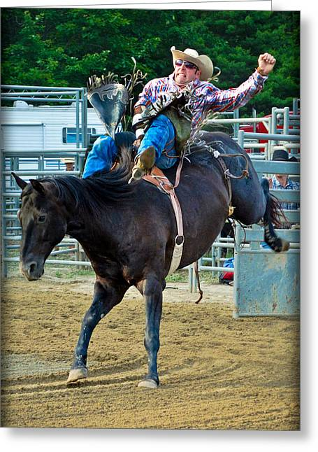 Rodeo Greeting Cards - Country Boy Greeting Card by Gary Keesler