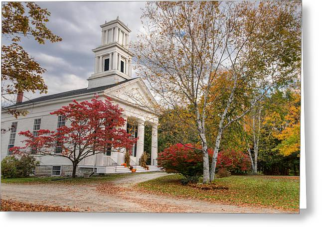 Country Church Greeting Cards - Country Chapel Greeting Card by Bill  Wakeley