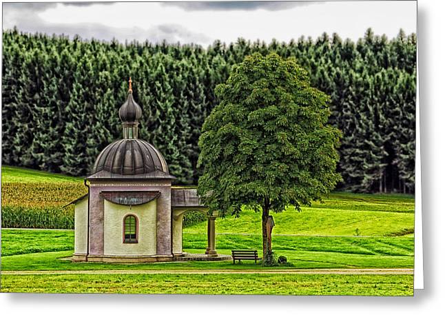 Cupola Greeting Cards - Country Chapel - Germany Greeting Card by Mountain Dreams