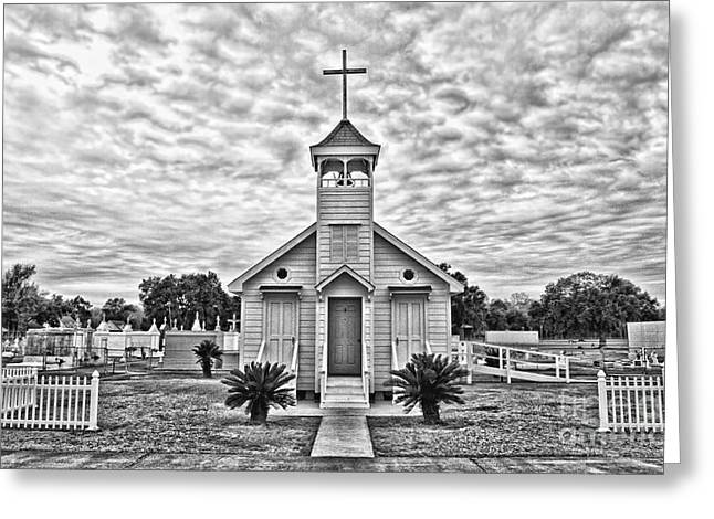 Grave Markers Greeting Cards - Country Chapel Greeting Card by Scott Pellegrin