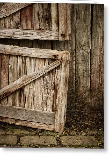 Wood Grain Greeting Cards - Country Charm Greeting Card by Amy Weiss