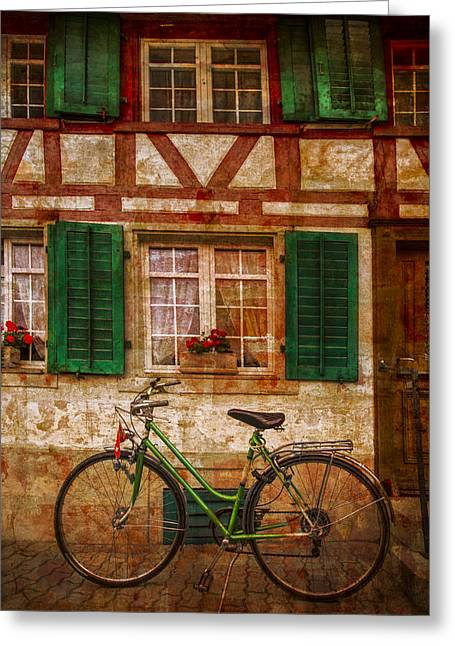 Swiss Photographs Greeting Cards - Country Charm Greeting Card by Debra and Dave Vanderlaan