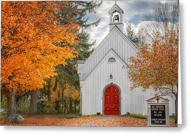 Country Church Greeting Cards - Country Church Greeting Card by Bill  Wakeley